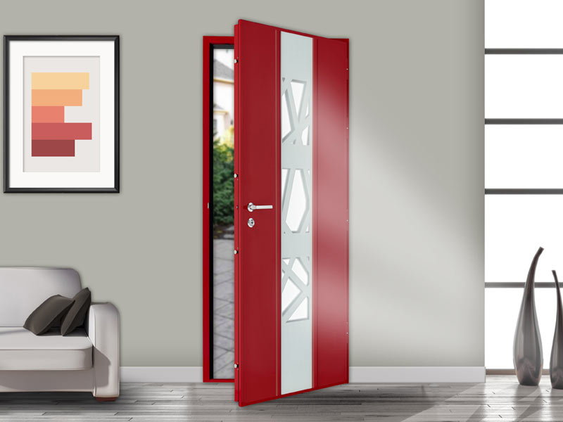 Porte blind e vitr e de haute s curit for Decoration porte blindee