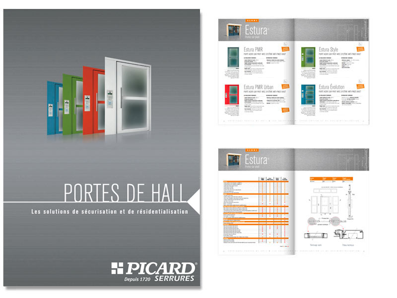Catalogue porte de hall, portillon et porte technique